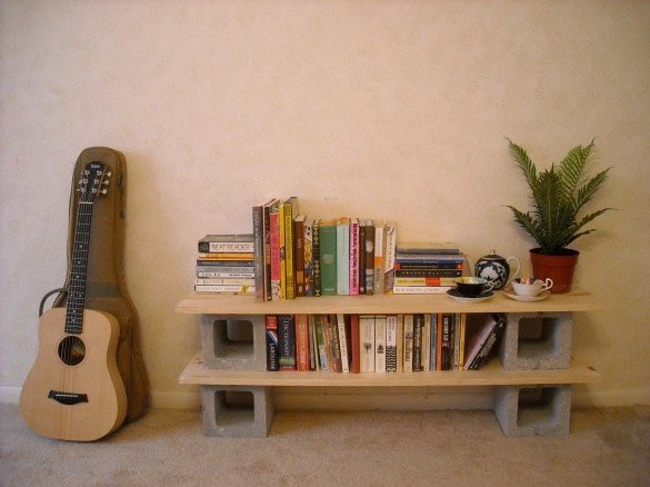 building bookshelf on wall